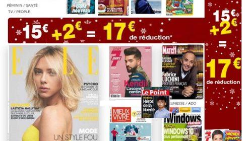 Offre abonnement magazine pas cher pour Noel