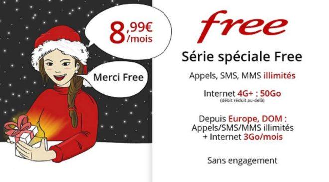 Série spéciale forfait mobile 50Go Free
