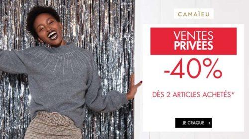 Vente Privée Camaïeu 40% Sur La Collection En Cours En Pré Soldes Dès 2 Articles