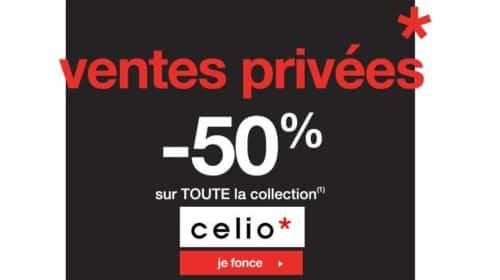 Vente privée Celio de pré-soldes