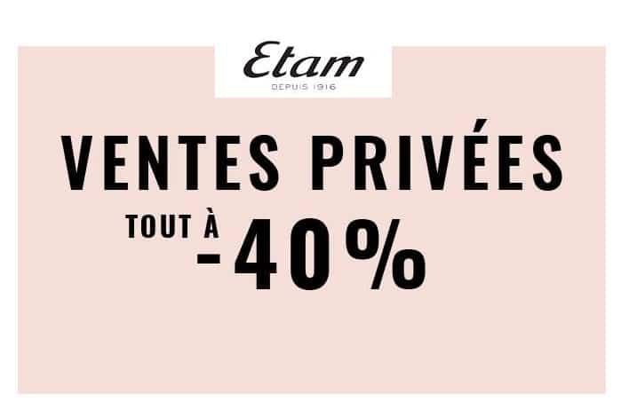 Vente privée ETAM