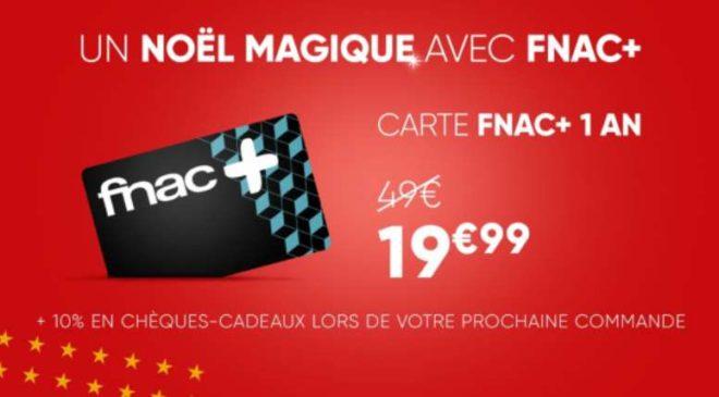 Vente privée carte FNAC+ : 19,99€ au lieu de 49€ + 10% sur votre 1er achat