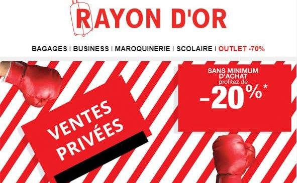 Ventes Privées Rayon d'OR Bagages