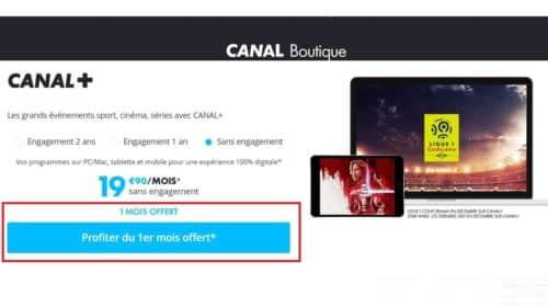 abonnement à CANAL+ gratuit sans engagement