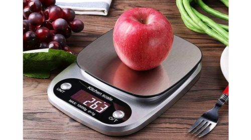 balance de cuisine avec plateau acier et écran LCD 10kg Green Joy