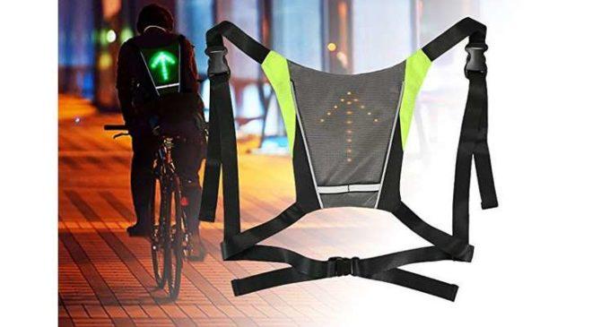 gilet de cyclisme avec signalisation LED avec telecommande