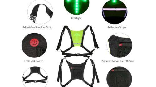 gilet de cyclisme avec signalisation LED avec telecommande Lixada