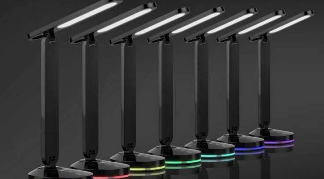 lampe de bureau LED Aukey avec base lumineuse