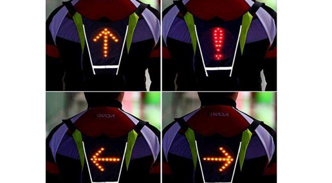le gilet de cyclisme avec signalisation LED avec telecommande