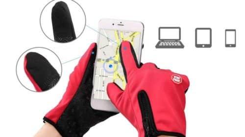 paire de gants polaire Lixada avec empiècement et touché tactile