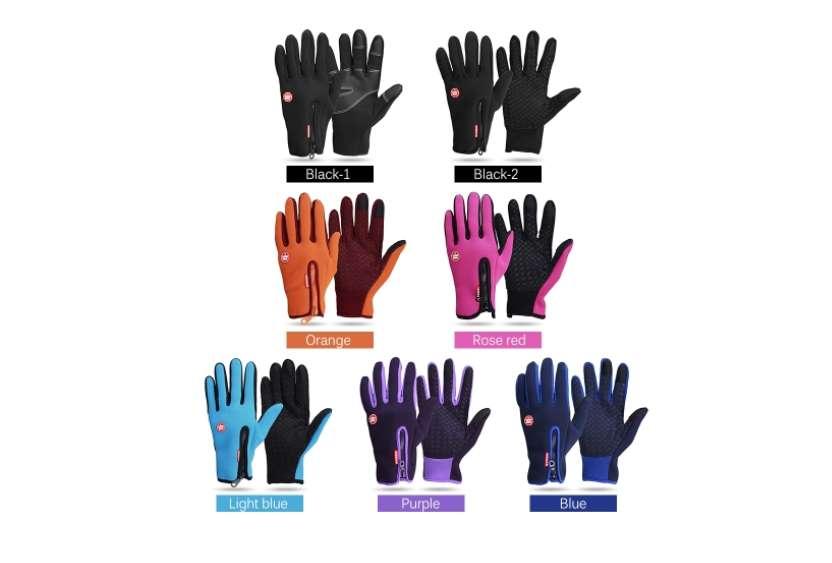 paire de gants polaire avec empiècement et touché tactile pas chere