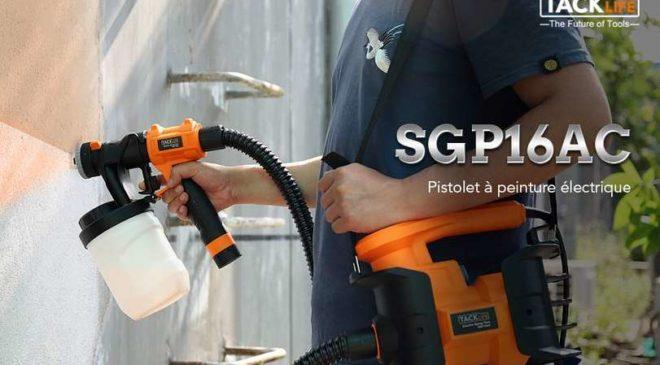 pistolet à peinture électrique 800W Tacklife Expert SGP16AC