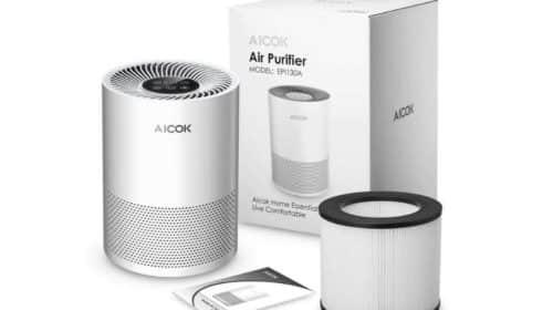 purificateur d'air silencieux avec filtre HEPA Aicok