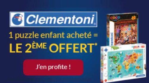 puzzle enfant Clementoni acheté le second gratuit