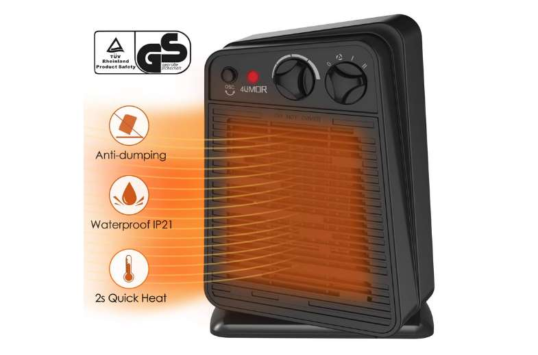 radiateur soufflant oscillant céramique avec thermostat 4UMOR