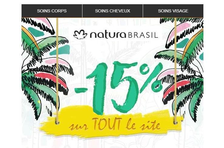 remise sur tout le site Natura Brasil