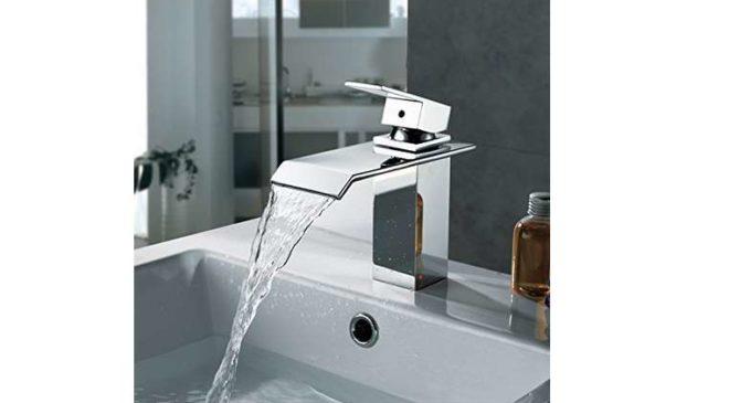 robinet cascade Homelody chromé plié