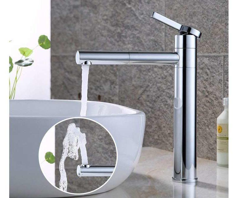 robinet haut pour vasque rotatif chromé Desfau