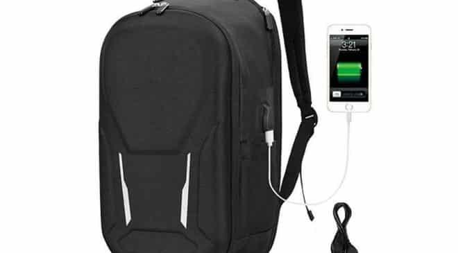sac à dos ordinateur avec port USB et compartiment antivol Vbiger