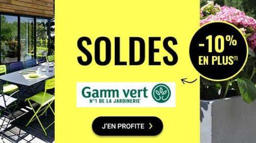 10% De Remise Supplémentaire Sur Les Soldes Gamm Vert