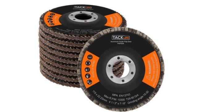 10 disques abrasifs de ponçage 115 x 2,2 mm Tacklife PAFD2A