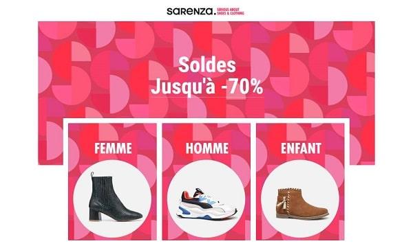 15% En Plus Sur Les Soldes Sarenza Pour L'achat De 2 Paires
