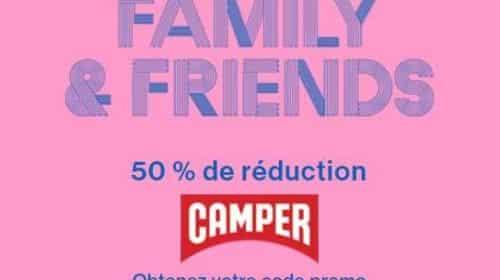 50% de remise sur toute la collection Camper
