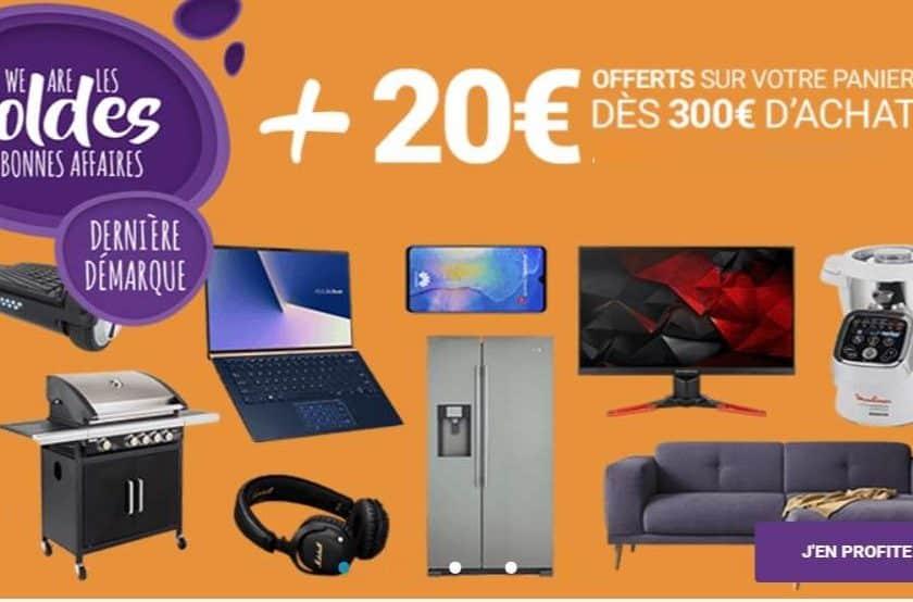 Dernière démarque des soldes Rue du Commerce (Carrefour) 20€ offerts dès 300€
