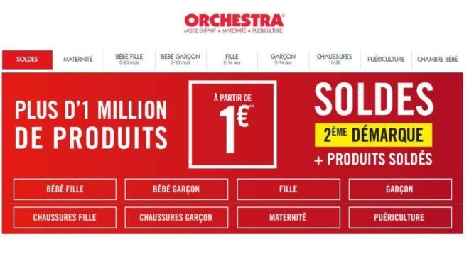 Deuxième démarque des soldes Orchestra