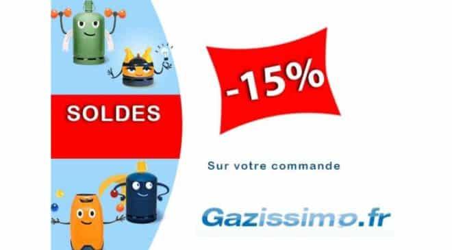 Soldes Gazissimo remise livraison de bouteilles de gaz à domicile
