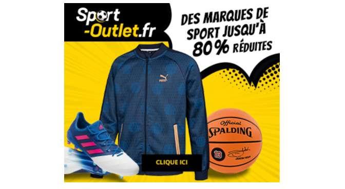 Sport-Outlet propose des articles de marque démarqués jusqu'à -80 %
