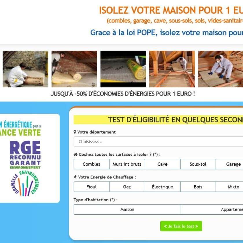 VOTRE MAISON ISOLÉE POUR 1€
