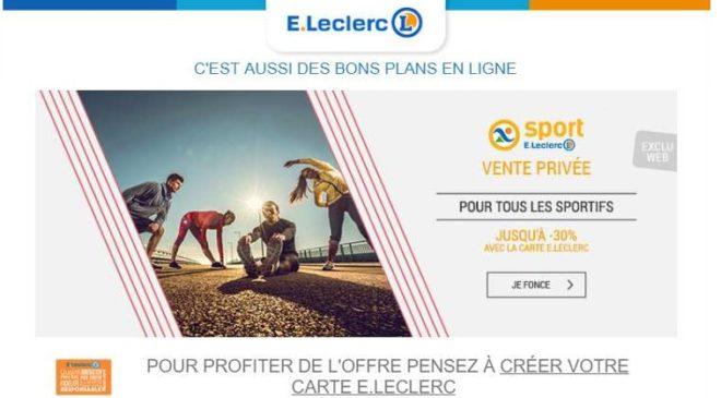 Vente Privée Sport Leclerc