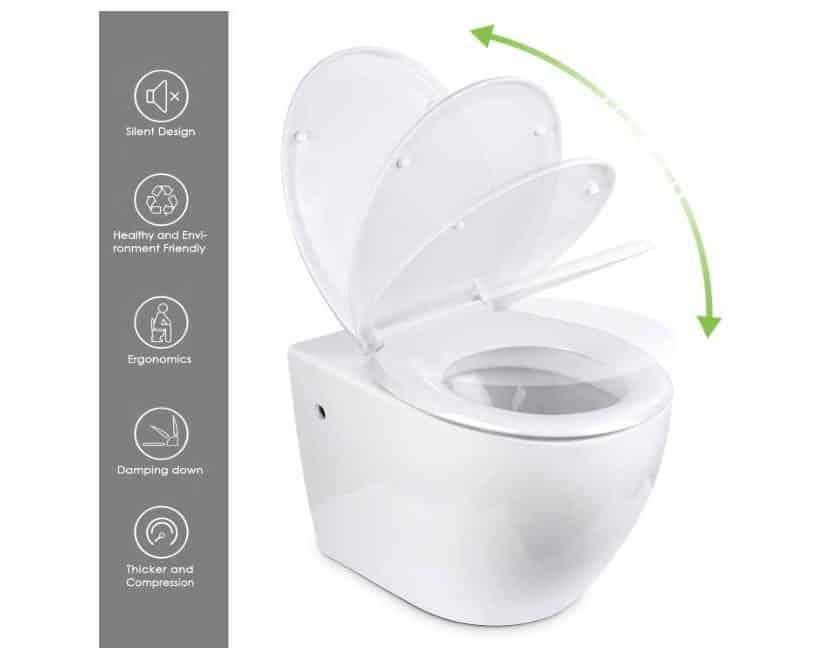 abatant de WC avec descente lente Amzdeal