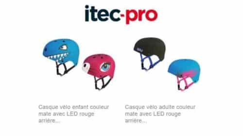casque de vélo enfant ou adulte avec LED arrière