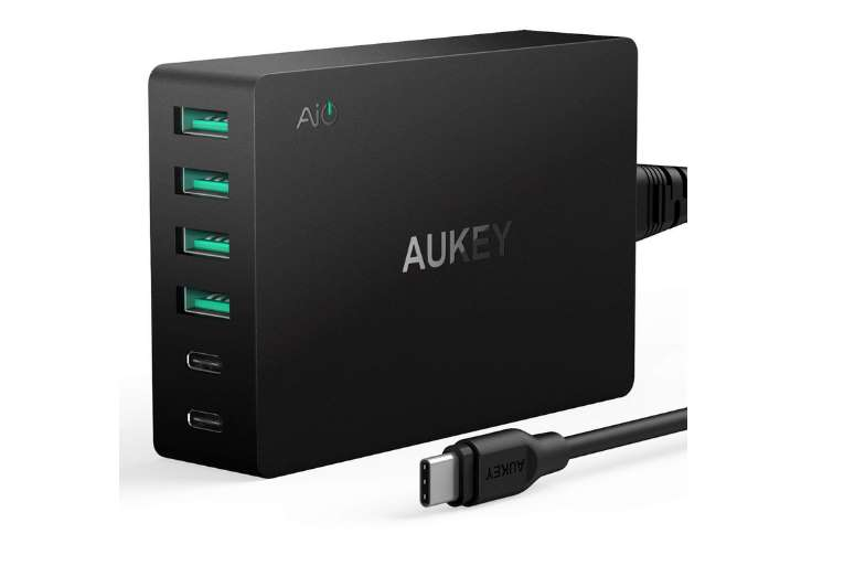 chargeur USB 6 ports 60W Aukey PA-Y6 USB C