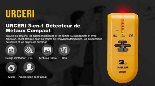 détecteur de matériaux et courant 3 en 1 URCERI