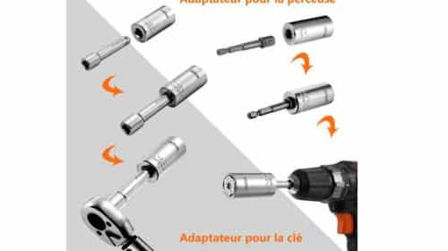douille multifonctions universelle Tacklife 7mm-19mm