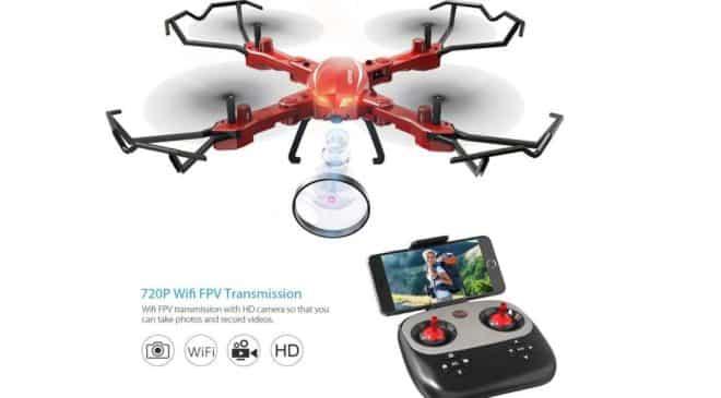 drone camera Wi-fi GoolRC T5W PRO 720P HD