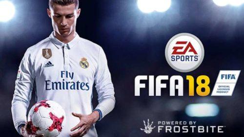 jeu vidéo FIFA 18 pour PS4 d'Electronic Arts en soldes