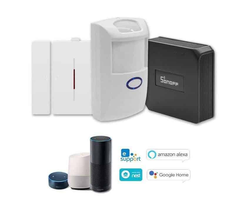 kit passerelle WiFi avec capteur ouverture, capteur infrarouge SONOFF ITEAD