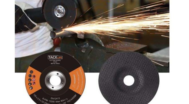 lot de 10 disques à tronçonner pour meuleuse 125 x 2,5 mm Tacklife PCW3