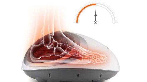masseur de pieds chauffant électrique Amzdeal avec télécommande