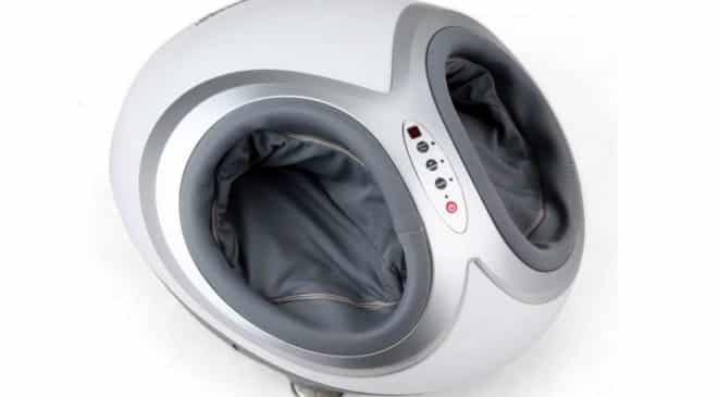 masseur de pieds chauffant électrique Amzdeal telecommande