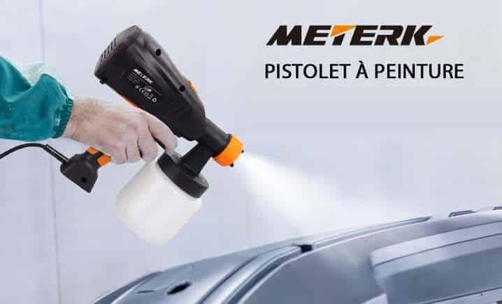 pistolet à peinture électrique Meterk 800ml