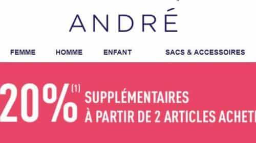 réduction en plus sur les soldes André