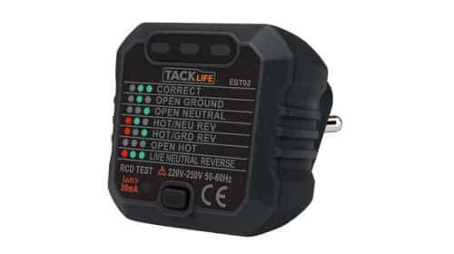 testeur de prise et câblage électrique Tacklife EST02