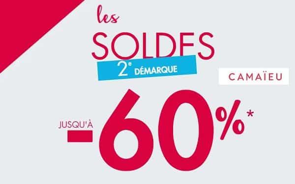 Usqu'à 60% Dans La Deuxième Démarque Soldes Camaïeu