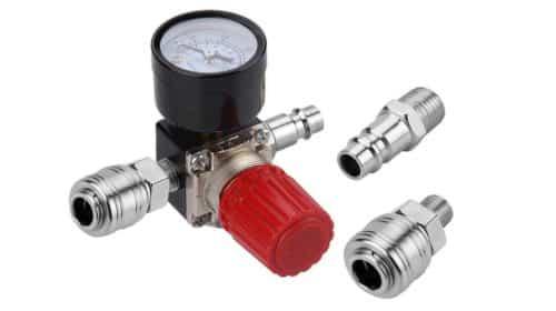 valve de régulation de pression avec manomètre pour compresseur Preciva