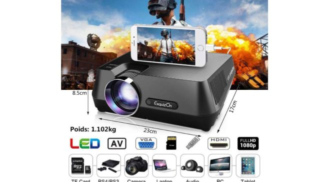 vidéoprojecteur portable Full HD ExquizOn